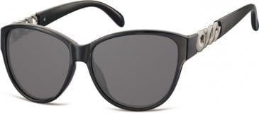 SFE-9903 Sunglasses in Black/Smoke