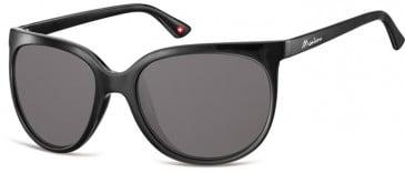 SFE-9905 Sunglasses in Black/Smoke