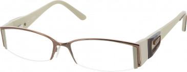 Guess GU1463 glasses in Brown/Cream