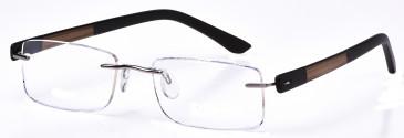 DiMarco DM107 Glasses in Medium Gunmetal