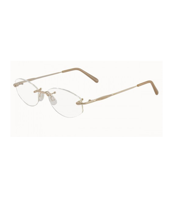 JAEGER 228 Designer Prescription Glasses in Gold/Brown