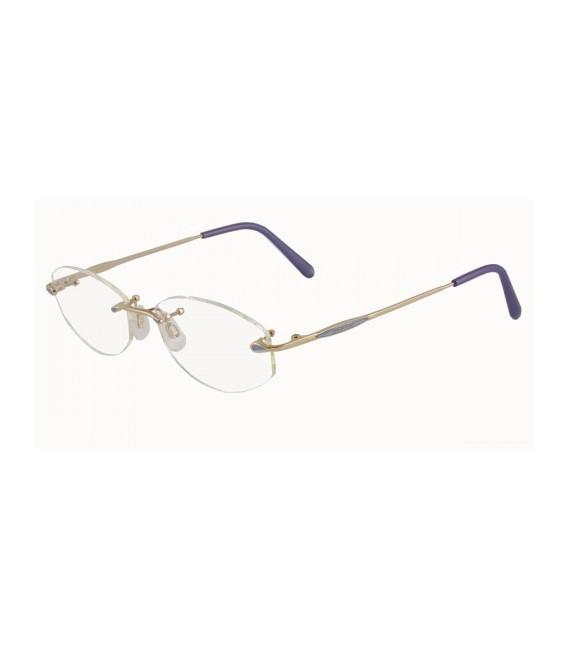 JAEGER 228 Designer Prescription Glasses in Gold/Violet