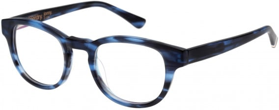 Superdry SDO-JONNY Glasses in Matte Denim Blue Horn