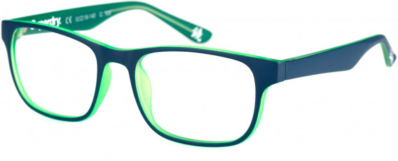 Superdry SDO-KABU Glasses in Matte Blue/Fluro Green