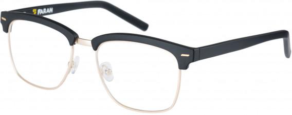 Farah FHO-1010 Glasses in Matte Black/Light Gold