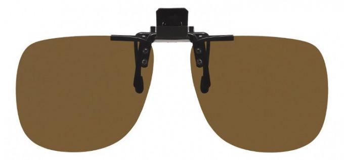 Polarised Clip-on Sunglasses Brown