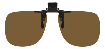 Polarised Clip-on Sunglasses Brown