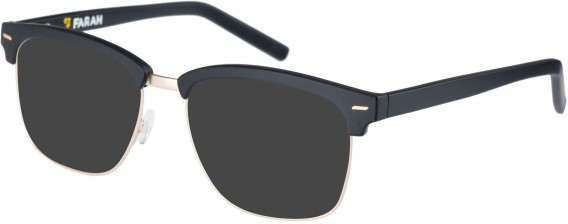 Farah FHO-1010 Sunglasses in Matte Black/Light Gold