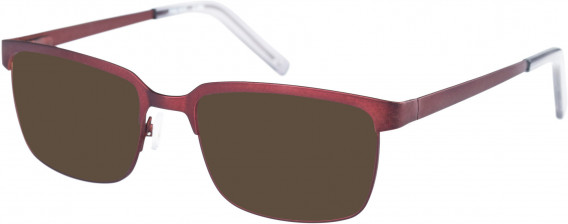 Farah FHO-1017 Sunglasses in Red/Grey