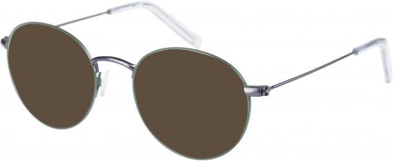 Farah FHO-1018 Sunglasses in Green/Grey