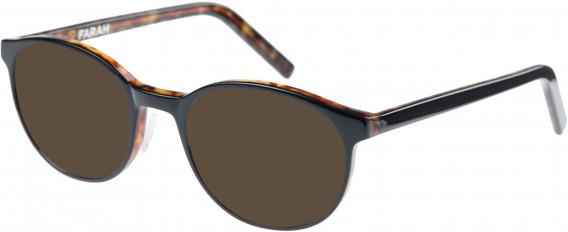Farah FHO-1009 Sunglasses in Black/Tortoiseshell