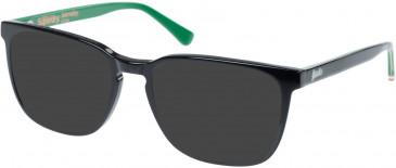 Superdry SDO-BARNABY Sunglasses in Gloss Black/Green