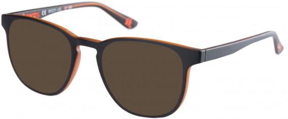 Superdry SDO-UNI Sunglasses in Matte Black/Amber