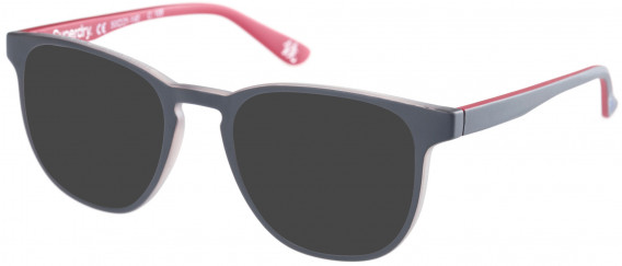 Superdry SDO-UNI Sunglasses in Matte Grey/Burgundy