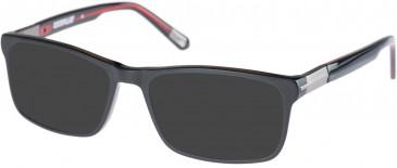 CAT CTO-THREAD Sunglasses in Matte Black/Red