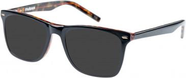 Farah FHO-1002 Sunglasses in Black/Tortoiseshell