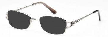 Rafaelle RAF115 Sunglasses in Shiny Light Gunmetal