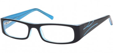 SFE Collection Plastic Glasses Black Clear Blue