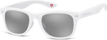 SFE-9927 Sunglasses in White/Silver Mirror