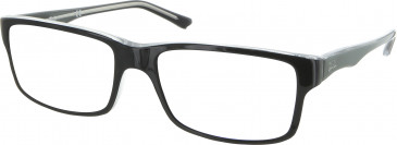 Ray Ban RB5245 glasses in Black/Crystal