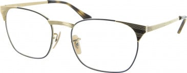 Ray Ban RB6386 glasses in Gold/Blue