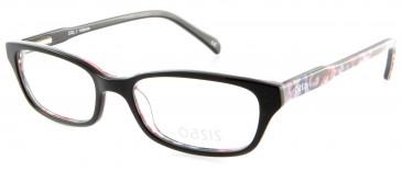 Oasis Olive glasses in Shiny Black