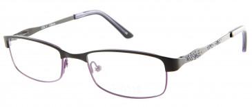 Oasis Bellis glasses in Shiny Black