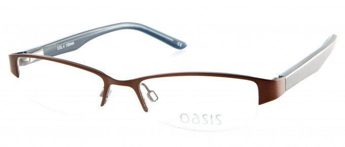 Oasis Clarkia glasses in Shiny Brown