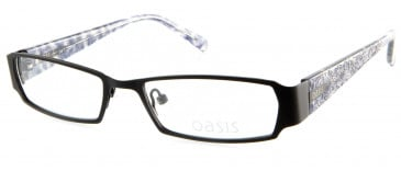 Oasis Nightshade glasses in Matt Black
