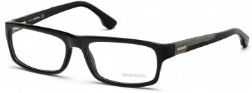 Diesel DL5030-55 glasses in Shiny Black