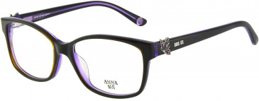 Anna Sui AS662A glasses in Black Purple