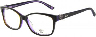 Anna Sui AS662A glasses in Black Purple