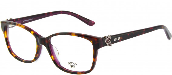 Anna Sui AS662A glasses in Tortoiseshell Burgundy