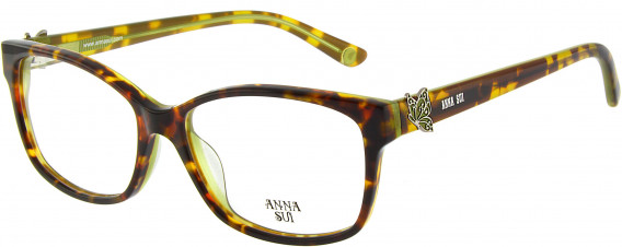 Anna Sui AS662A glasses in Tortoiseshell Green