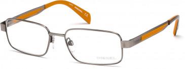 Diesel DL5051 glasses in Shiny Gunmetal
