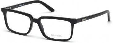 Diesel DL5067 glasses in Shiny Black