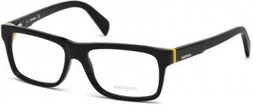 Diesel DL5071 glasses in Shiny Black