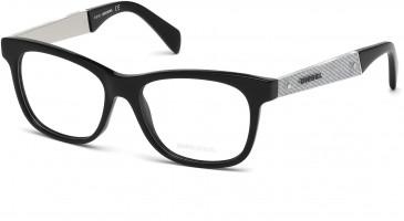 Diesel DL5078 glasses in Shiny Black