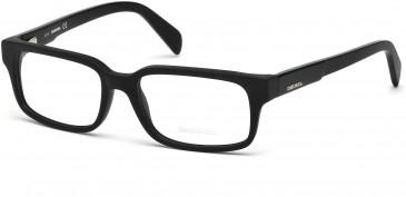 Diesel DL5080 glasses in Matt Black