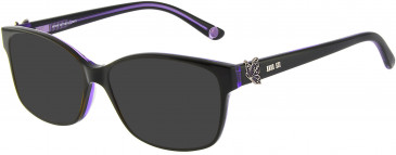 Anna Sui AS662A sunglasses in Black Purple