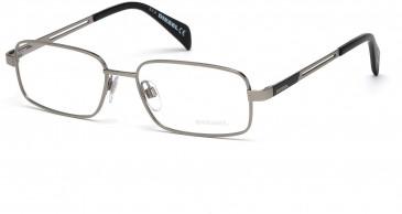 Diesel DL5109 glasses in Shiny palladium