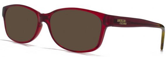 American Freshman AMFO004 Glasses in Crystal Red