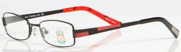 Liverpool OLI001 kids glasses in Black/Red