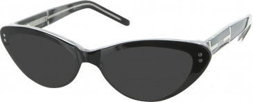 Iceberg IC137 sunglasses in Black/Crystal
