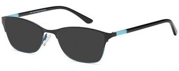 SFE-10349 sunglasses in Black/Blue