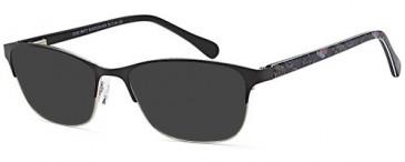 SFE-10367 sunglasses in Matt Black/Silver
