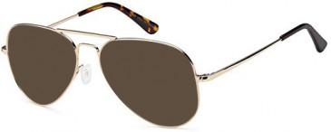 SFE-10386 sunglasses in Gold