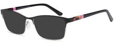 SFE-10397 sunglasses in Black/Silver