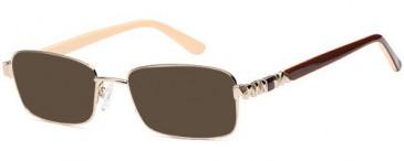 SFE-10439 sunglasses in Gold
