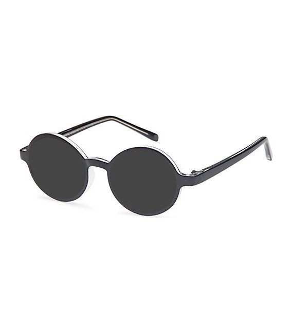 SFE-10460 sunglasses in Black/Crystal